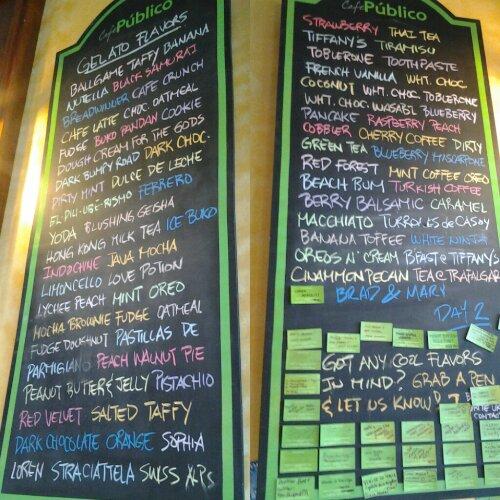 cafe publico, gelato, greenhills